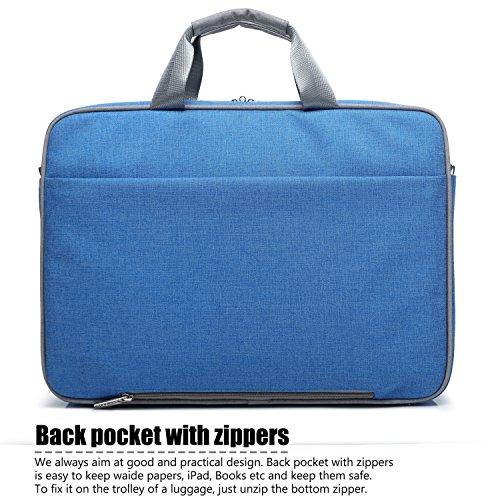 coolbell 39,6cm Laptop Tasche Nylon Schultertasche Mehrere Messenger Tasche Hand Bag Tablet Aktentasche für Laptop/Tablet/MacBook grau grau 15,6 zoll blau
