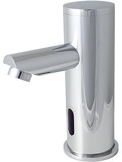 Design Wasserhahn Infrarot IR Automatik Waschbecken Kaltwasser Chrome