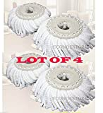 Lot Of 4 Replacement Microfibric Mop Head Refill 4 Hurricane...