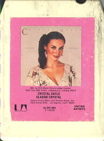 Price comparison product image Crystal Gayle: Classic Crystal 8 track tape