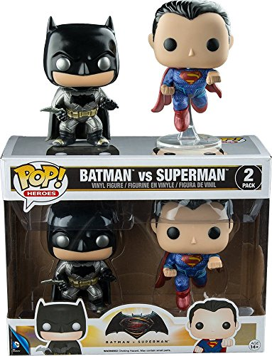 Funko DC Heroes Batman VS. Superman Metallic 2-Pack Pop Vinyl Set