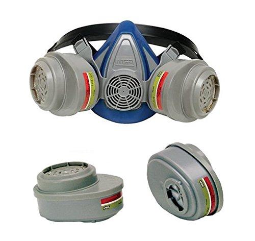 MSA Safety Works 817663 Multi-Purpose Respirator (Mask + 2 Refills)