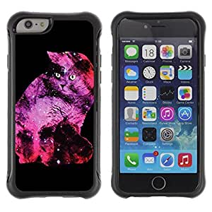 Hybrid Anti-Shock Defend Case for Apple iPhone 5C Inch / Galaxy Space Cat