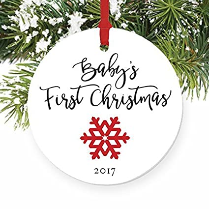 Joanna Funny Christmas Ornament Crafts Babys First New Baby Snowflake Ornament Xmas Tree Decorations 2017 Bh563664