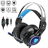 Xbox One, PS4 Video Gaming Headset, Weton Over-Ear Gaming Headset 3.5mm Wired Noise Isolation Gaming Headphone Earphone Headband with Mic LED Light for PC Laptop Tablet iPad Phones Nintendo Switch