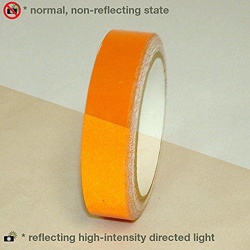 Orange Reflective Tape (JVCC REF-7 Engineering Grade Reflective Tape: 1 in. x 30 ft. (Orange))