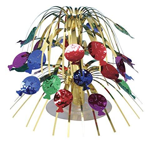 Creative Converting 261015 Balloons Mini Cascade Table Centerpiece, Multicolor (Birthday Cascade)