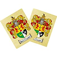 Manley Coat of Arms Print / Family Crest Parchment 8 1/2 X 11 Inches + Free Bonus Print