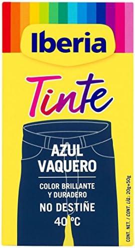 Iberia - Tinte Azul Vaquero para ropa, 40°C: Amazon.es ...