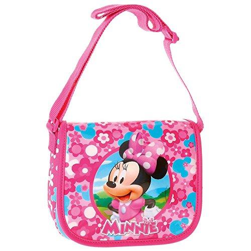 Disney Minnie Pink Borsa Messenger, 17 cm, 1.02 liters, Rosa