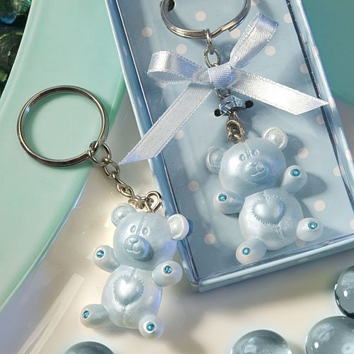 SALE - FASHIONCRAFT Blue Teddy Bear Design Favor Saver Key Chains/Keyring ()