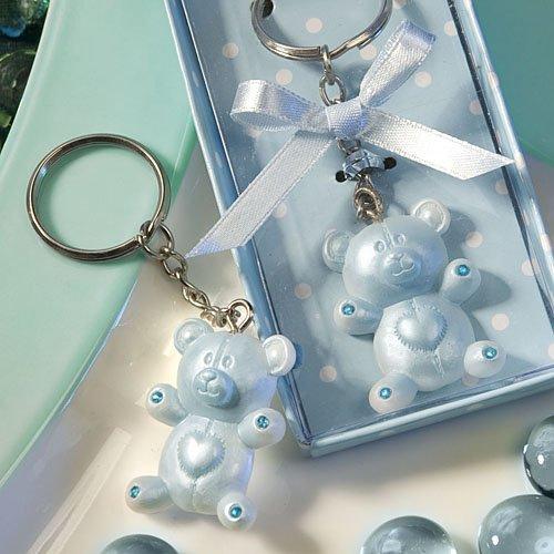 (SALE - FASHIONCRAFT Blue Teddy Bear Design Favor Saver Key Chains/Keyring)