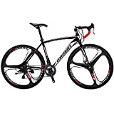 Cheap EUROBIKE Road Bike EURXC550 21 Speed 49 cm Frame 700C K Wheels Road Bicycle Dual Disc Brake Bicycle Black White