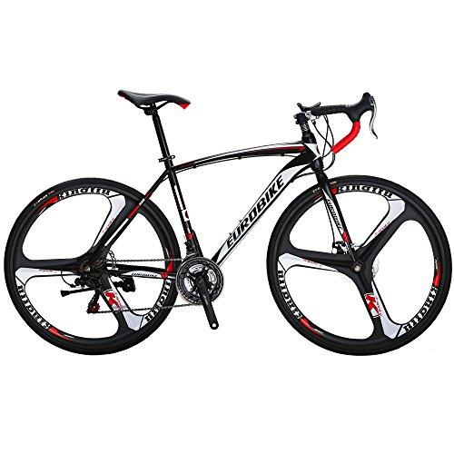 Eurobike Bikes EURXC550 21 Speed Road Bike 49 cm Frame 700C K Wheels Road Bicycle Dual Disc Brake Bicycles Blackwhite