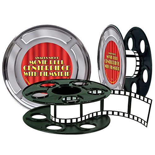 Movie Reel w/Filmstrip Centerpiece (15' filmstrip included) Party Accessory  (1 count) -