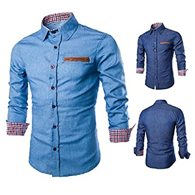 Men's Long Sleeve Shirts, Jushye Mans Luxury Mens Casual Stylish Slim Fit Formal Dress Shirts Tops Business Blouse