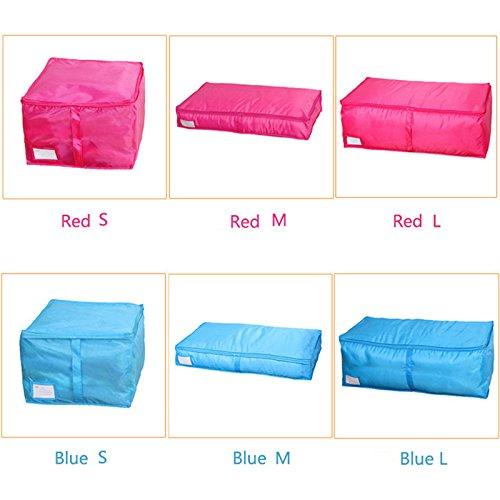Clothes Quilt Bedding Duvet Zipped Handles Laundry(Blue)(L) - 1