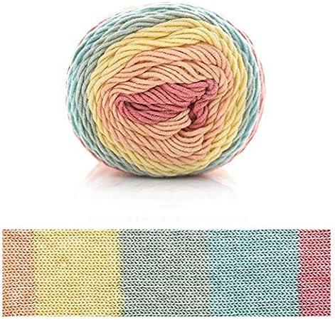 Xiuinserty hilo de algodón para tejer, 100 g, 5 hilos, hilo de ganchillo de algodón tejido a mano para manta naranja: Amazon.es: Hogar