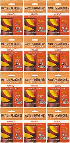 Matt's Munchies Mango Organic Non-GMO Peelable Fruit Snack 12 Pack Caddy (1 Ounce)