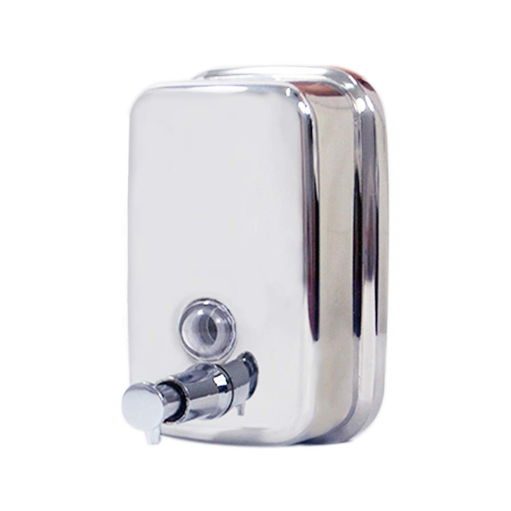 Soap Dispenser Stainless Steel 17oz/500ml Wall Mounted Commercial Manual Liquid Soap Shampoo Box for Home Hotel Bathroom Kitchen