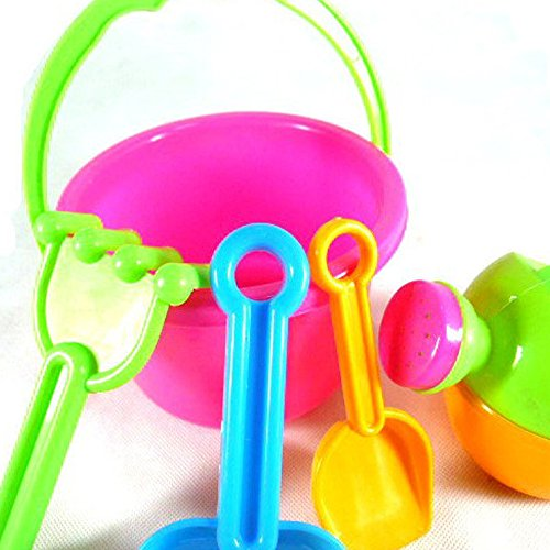 6 Pcs Beach Toy Sand Tools Play Sandbox Summer Activity Playset Baby Bath Water Toys Set for Kids Boys Girls Playing