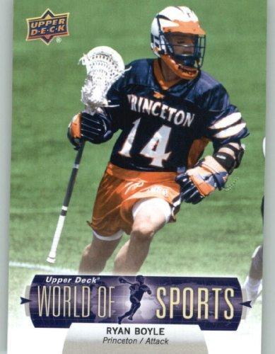 2011 Upper Deck World of Sports Baseball Trading Card #206 Ryan Boyle - Princeton Tigers (Lacrosse) (Princeton Deck)
