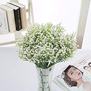 LYLYFAN 12 Pcs Babys Breath Artificial Flowers, Gypsophila Real Touch Flowers for Wedding Party Home Garden Decoration 3