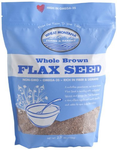 Wheat Montana Farms and Bakery Whole Brown Flax Seed 2.5 Lbs
