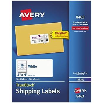 avery shipping address labels inkjet printers 1000 labels 2x4 labels permanent adhesive trueblock 8463