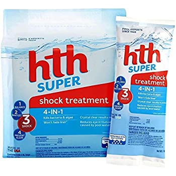 Hth 51442 02 K Super 4 In 1 Shock Treatment For Swimming Pools 10 Pack