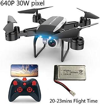 SBUNA RC Quadcopter Drone Interior Retorno con Cámara 640P, FPV WiFi 2.4G, Altitud Hold, Sígueme Video de Gestos G-Sensor Drones, Una Tecla de Despegue y Aterrizaje, Regalo Juguetes