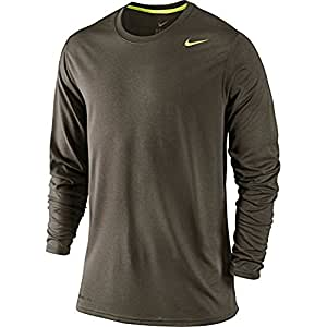 Nike Men's Long Sleeve Legend T-Shirt Cargo Khaki / carbon Heather XX-Large