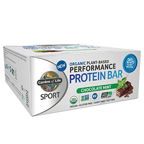 Garden of Life Organic Sport Protein Bar, Vegan, Chocolate Mint, 12 Count