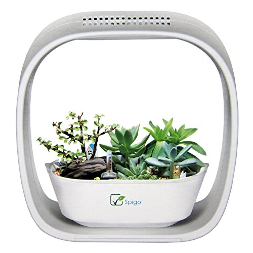 51loCvrykrL - Spigo Indoor LED Light Grow Garden, Pearl White