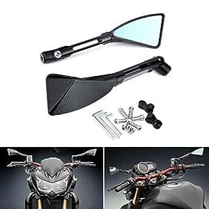 KaTur Motorcycle Rearview Mirror Black Triangle Demon Blade Style CNC Machined Billet Aluminum 0MM Mounting Tool Bolts For Yamaha MT-01 MT-03 WR TDM TDR TW Fazer XJR TDM XJ XTZ V Max WR FZ1 FZ6 FZ8