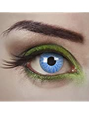 aricona Kontaktlinsen - Lichtblauwe contactlenzen, kleurlenzen zonder sterkte, gekleurde contactlenzen voor carnaval, cosplay, 2 stuks
