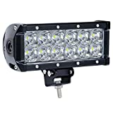 "Nilight 7.5"" 36W Spot Led Light Bar 12v LED Work Light Super Bright Driving Lamp for Jeep Cabin Boat SUV Truck Car ATV,,2 Years Warranty"