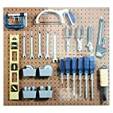Pegboard Hook Assortment Kit Storage Shop Garage Organizing Tools Hanger