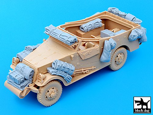 Black Dog 1:35 US M3 Scout Car Accessories Resin Set for Hobby Boss kit - 35 Resin