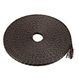 uxcell PET Braided Sleeving 32.8 Feet 10m Expandable Cable Wrap 4mm Diameter Wire Sheath Black Brown