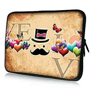 """TOPAA ships in 48 hours Mustache Pattern Protective Sleeve Case for Samsung Galaxy Tab 2 P3100 and others , 10"""""""