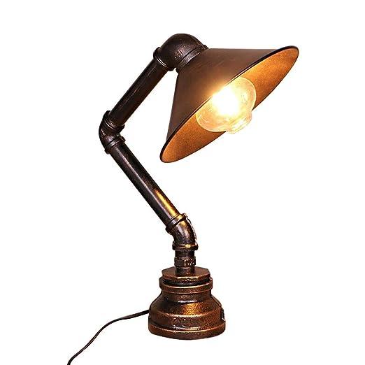 XXSS Lámpara de Mesa Industrial Vintage, lámpara de Mesa de Estilo ...