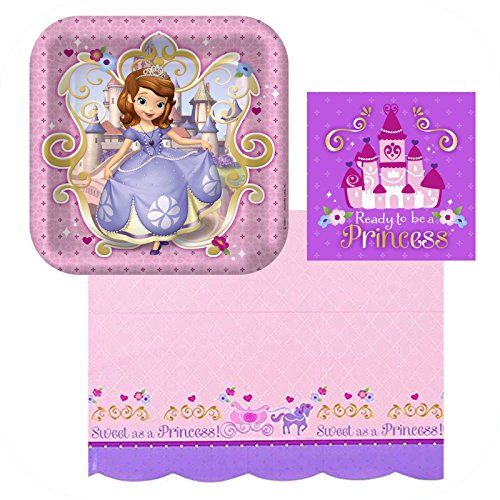 Hallmark - Disney Sofia The First Party Plates, Napkins, And (Sofia The First Paper)