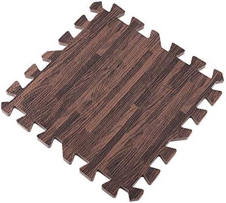 Vloermatten anticorrosief duurzaam schuim oefeningsvloermatten eenvoudig te monteren lichtgewicht zachte gymnastiekoefening voorDeep wood grain