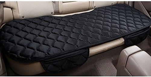 PU Leather Car Rear Row Seat Cover Cushion Anti Skid Buckle w//Lattice Pattern