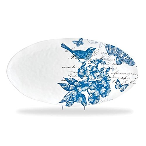 Michel Design Works Melamine Oval Serving Platter, Indigo - Design Platter Oval