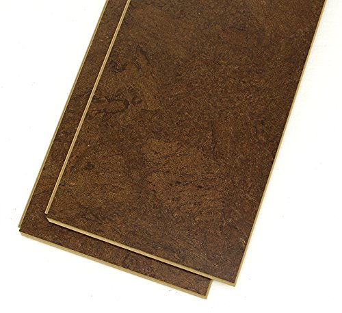 Dark cork flooring - Forna 11mm Brown Salami Floating Cork Flooring 21sqftbox