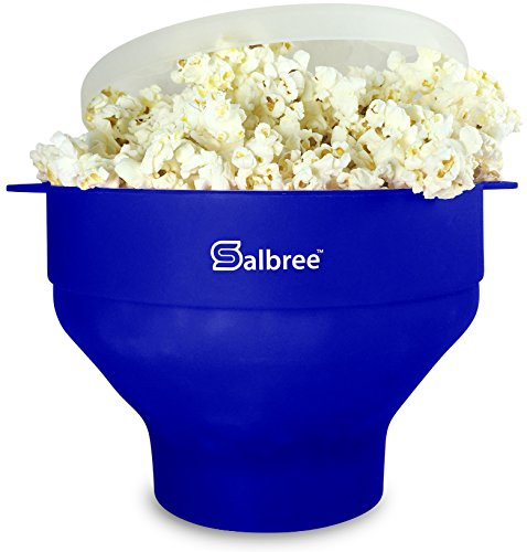 Salbree Microwave Popcorn Popper, Silicone Popcorn Maker, Collapsible Bowl