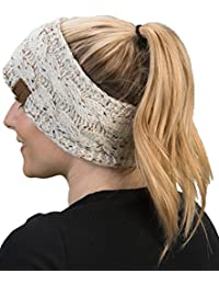 C.C Confetti Cable Knit Fuzzy Lined Head Wrap Headband...
