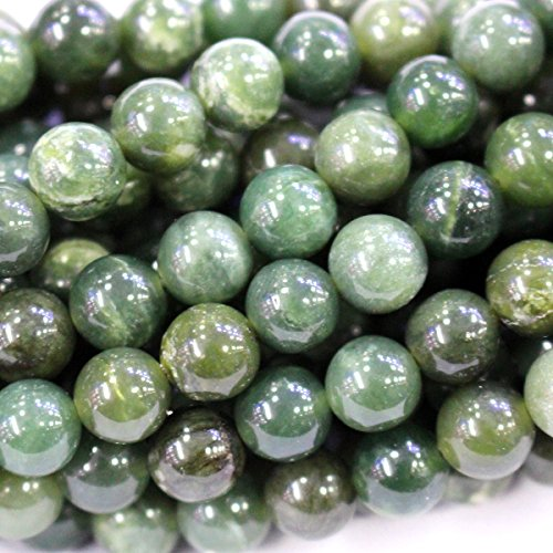 Natural Color Canada Nephire jade Round Gemstone Jewelry Making Loose Beads (6mm)